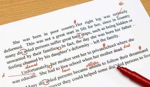 Correcciones gramaticales en un examen de inglés-1