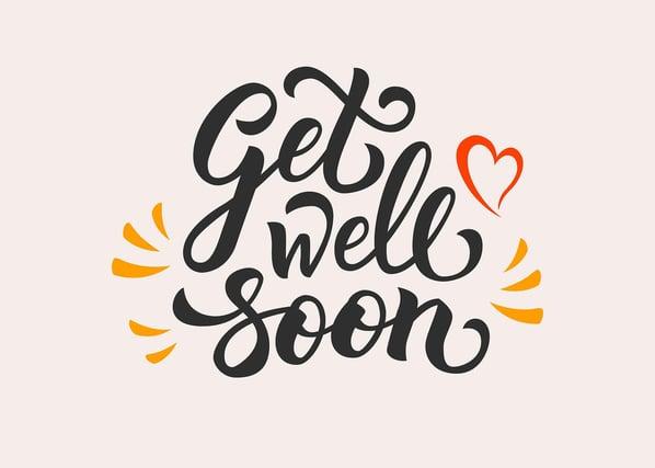 Diseño con la frase Get well soon